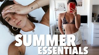 SUMMER 2019 ESSENTIALS: self tanner, beauty products, etc