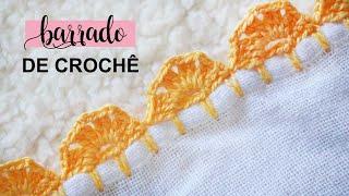 Barrado de Crochê Carreira Única – Modelo Simples