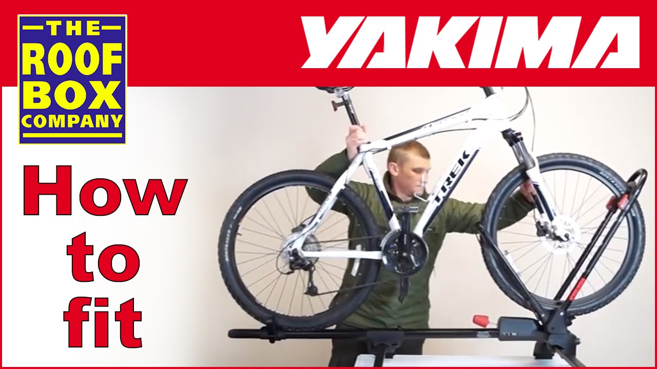yakima frontloader roof mounted bike carrier how to fit to steel roof bars
