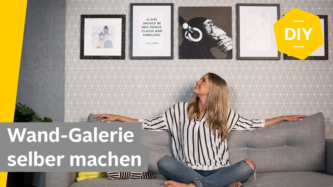 DIY: Wand-Galerie selber machen | Roombeez – powered by OTTO - YouTube