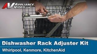Whirlpool, Kenmore, KitchenAid - Dishwasher Replacement Rack Adjuster Kit W10712394 V-rail