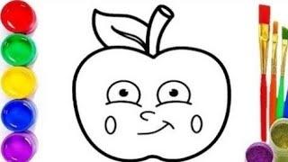 Bolalar uchun olma rasm chizish /Как нарисовать яблоко /How to draw