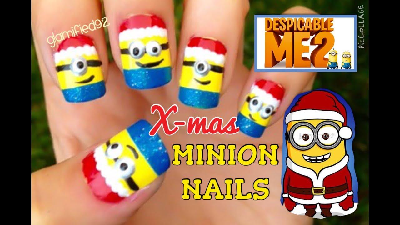 Christmas Minion Nails - YouTube