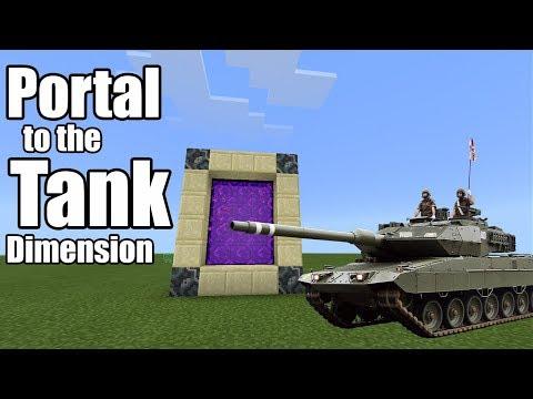 PORTAL to the TANK DIMENSION | Minecraft PE
