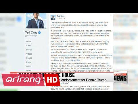 Ted Cruz announces surprise endorsement for Donald Trump