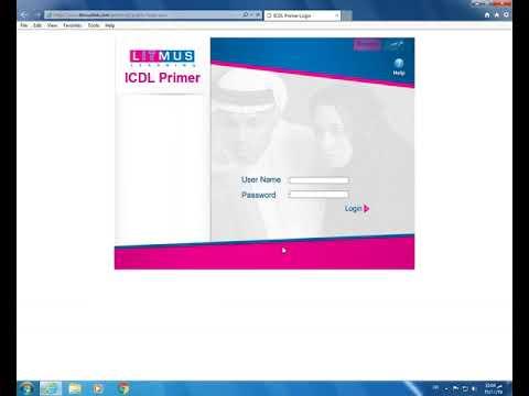 إعدادات تشغيل الامتحانات التجريبيةلشهادة (ICDL)  Litmus V5