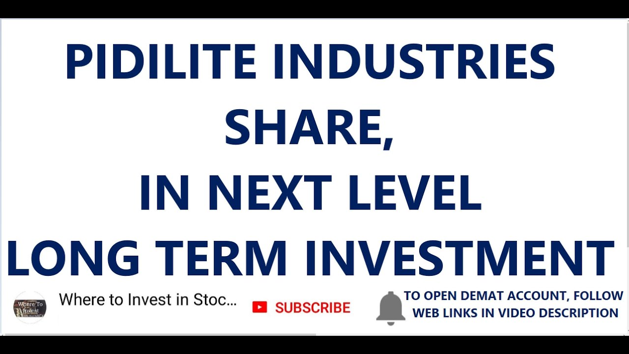 Pidilite Industries Share In Next Level Long Term Investment In Stocks Shares To Invest Youtube
