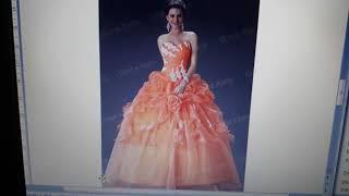 23rd June Dream : The Bride is Sleeping, Orange Wedding Dress