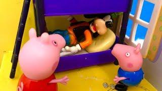Świnka Peppa i Goofy ♥ Odwiedziny i Zabawa ♥ Bajka dla dzieci PO POLSKU