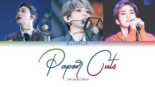 Gambar cover EXO CBX - Paper Cuts (JPN/ROM/INDO Color Coded Lyrics/가사)