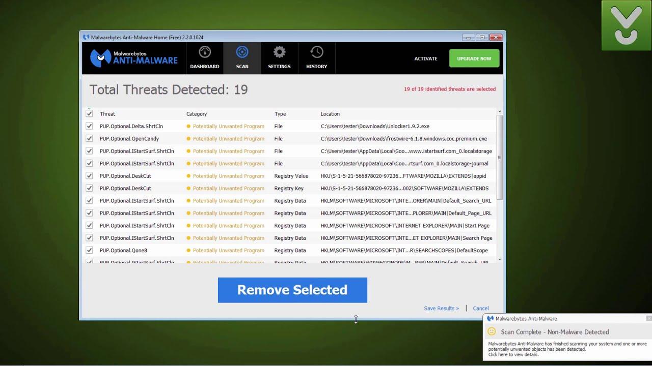 Malwarebytes Anti-Malware Free - Detect and remove malware - Download Video  Previews