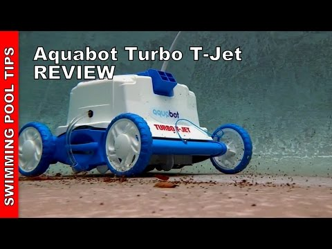 Aquabot Turbo T-Jet Robotic Pool Cleaner with Power Washing Jets