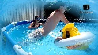 Каркасный бассейн Intex 457х122 Уход ПРОЗРАЧНАЯ ВОДА все лето Добавляем ПЕРЕКИСЬ(Каркасный бассейн Intex 457х122. Уход. Чтобы вода была прозрачной все лето, в этом году мы решили добавить в бассе..., 2016-07-07T03:08:41.000Z)
