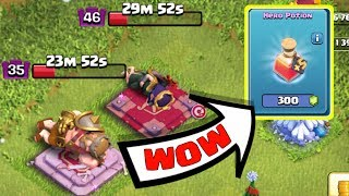 USING HERO POTION FIRST TIME IN CLASH OF CLANS , CLASH OF CLANS INDIA