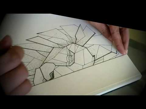 geometric-drawing-||-lion-face-||-easy-drawing-ideas