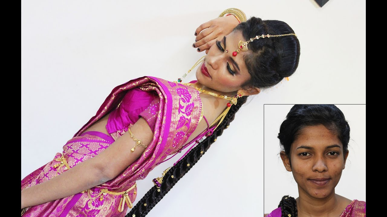 South Indian Bridal Makeup Look   Mugurtham Makeup   Tamil Beauty ...