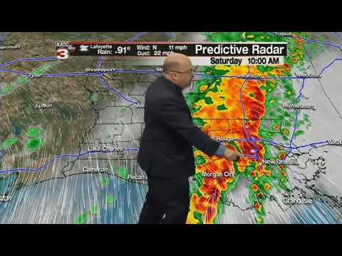 Rob's 10:00 p.m. forecast for severe weather in Acadiana
