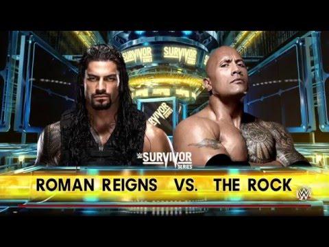 WWE 2K16 - The Rock VS Roman Reigns