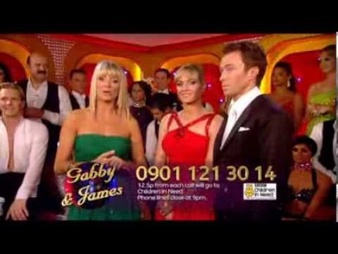 Strictly - Week 2 - James and Gabby Logan's 1st dance