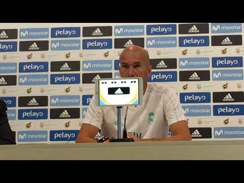 Rueda de prensa COMPLETA de Zinedine Zidane (ida Supercopa de España) va FC Barcelona 12/08/2017