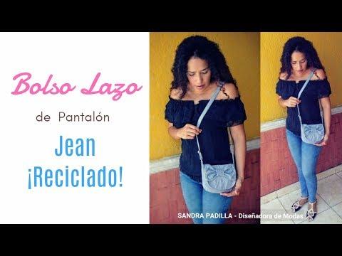 BOLSO LAZO - de Jean Reciclado- Tutorial de SANDRA PADILLA