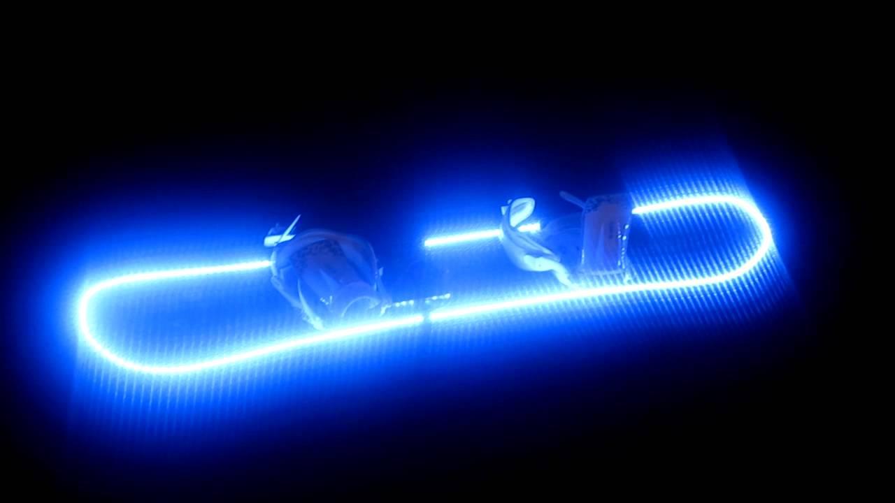 LED snowboard. blue - YouTube