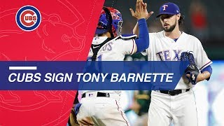 Tony Barnette signs a one-year deal with the Cubs