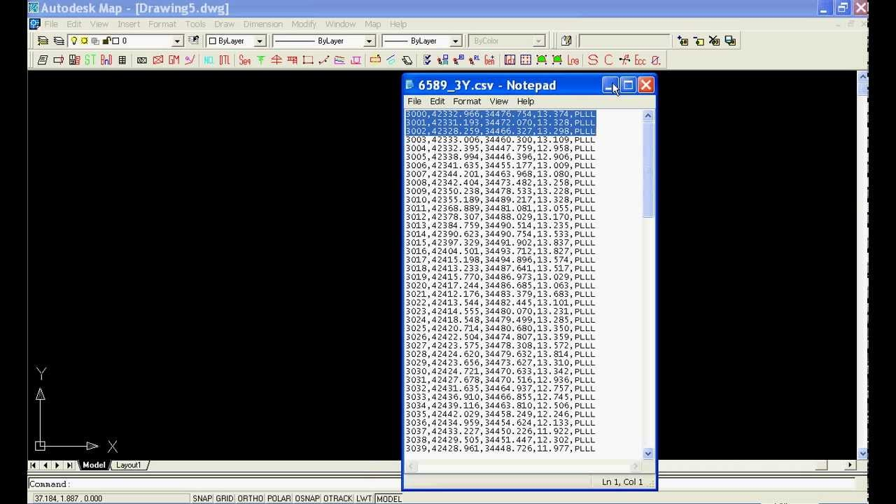 How to import surveying data file into AutoCAD ? 怎样输入测量数据 ...