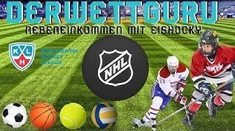 Geld verdienen mit Sportwetten l Nebeneinkommen durch Eishockey Wetten