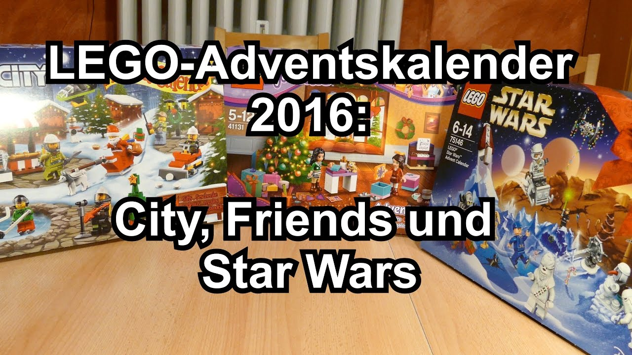 lego adventskalender 2016 city friends und star wars. Black Bedroom Furniture Sets. Home Design Ideas