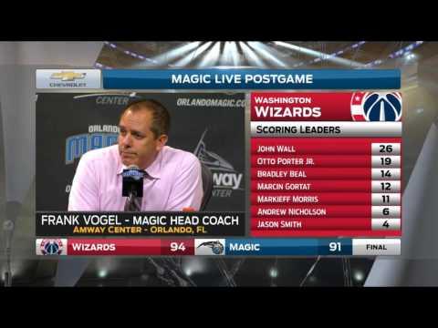Frank Vogel -- Orlando Magic vs Washington Wizards 11/25/2016