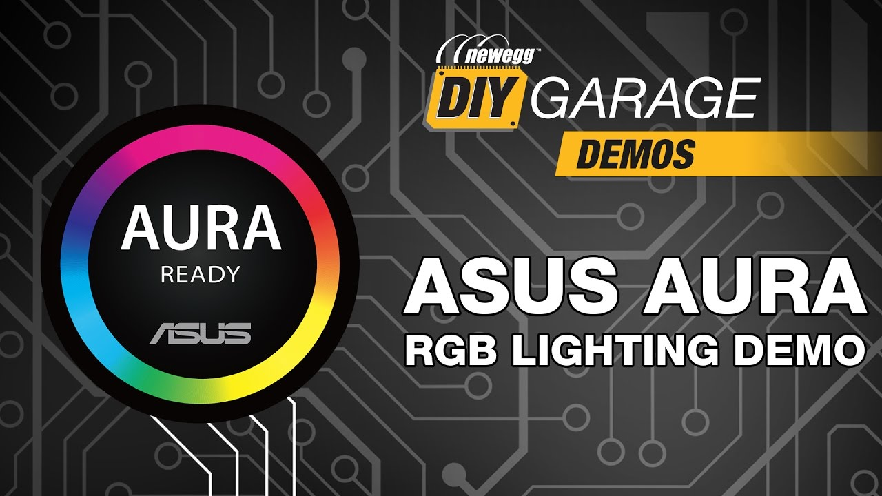 Newegg DIY Garage: Synchronized PC lighting with ASUS AURA
