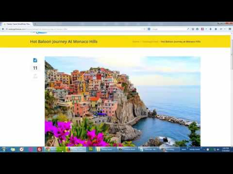 Using Blog Template in Trendy Travel WP theme