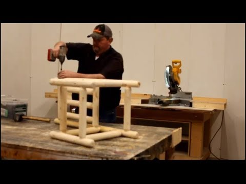 DIY Log Worx - Handcrafted kitchen chair - woodworking rustic log furniture shop