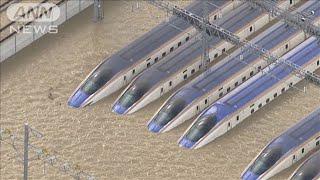 台風19号 浸水新幹線をすべて破棄で被害額は150億(19/10/29)
