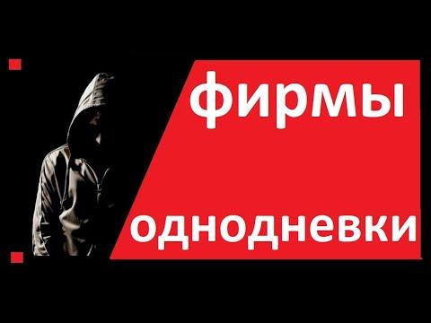 ФИРМЫ ОДНОДНЕВКИ / СХЕМЫ. Реестр, признаки, НДС, Директор