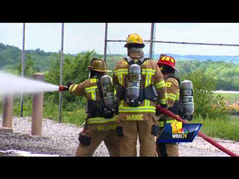 Video: BWI-Marshall rescue crew trains for worst disaster