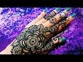 Diwali special Beautiful stylish arabic/gulf mandala flower henna mehndi designs for hands for eid