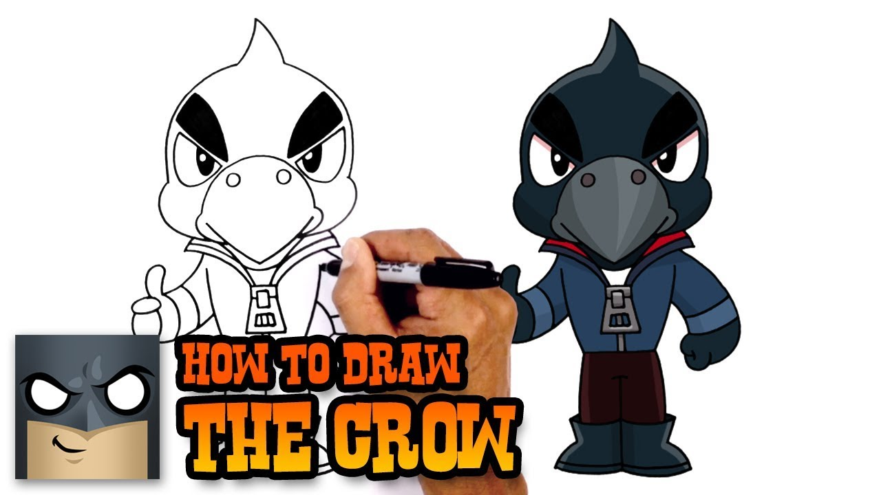 How To Draw Crow Brawl Stars Youtube