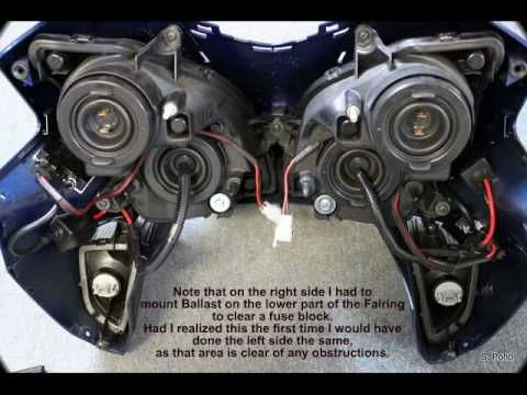 VFR Front Fairing Removal & HID Install - YouTube