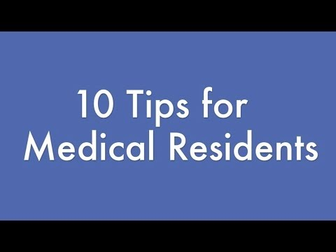 10 tips for medical residents