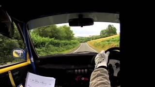Lloyd Morgan / Dale Bowen Harry Flatters Rally 2013 In car