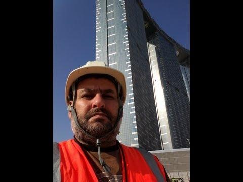 BMU test @ gate towers @ al reem island Abu Dhabi By Aiman Al-Nakawah  Mechanical Engineer