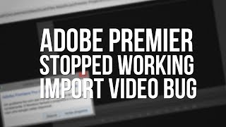 Tutorial Adobe Premier Pro CC has stopped working Fixed!!