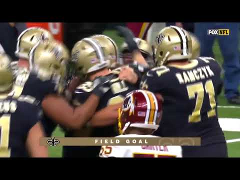 Wil Lutz nails 28-yard Game Winning field goal!