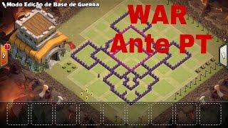 Clash of clans - Layout de guerra para Cv8 2017 // Anti PT!