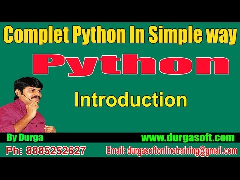 Python Tutorial || Python Introduction by Durga sir - YouTube