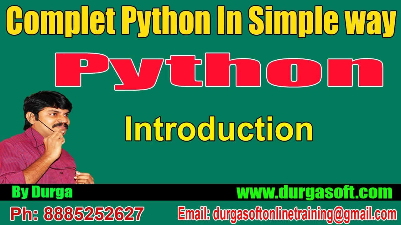 Python Tutorial || Python Introduction by Durga sir