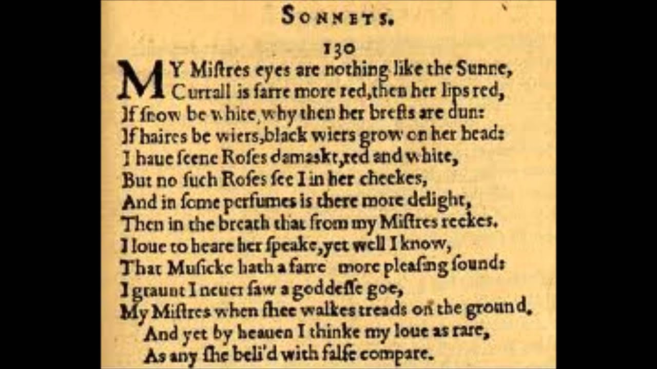 my mistress eyes essay William shakespeare s sonnet 130, my mistress eyes are nothing like the sun , is nothing like what people are used to hearing in a poem describing a woman.