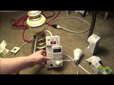 Dollar Tree LED Light Bulbs Kill-A-Watt Testing.